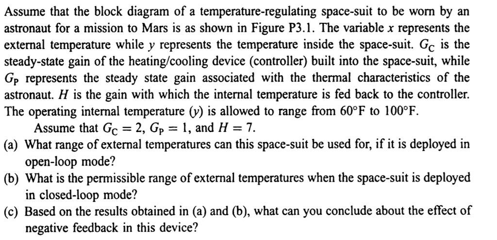 Solved Assume That The Block Diagram Of A Temperature Reg