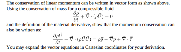 Solved The Conservation Of Linear Momentum Can Be Written