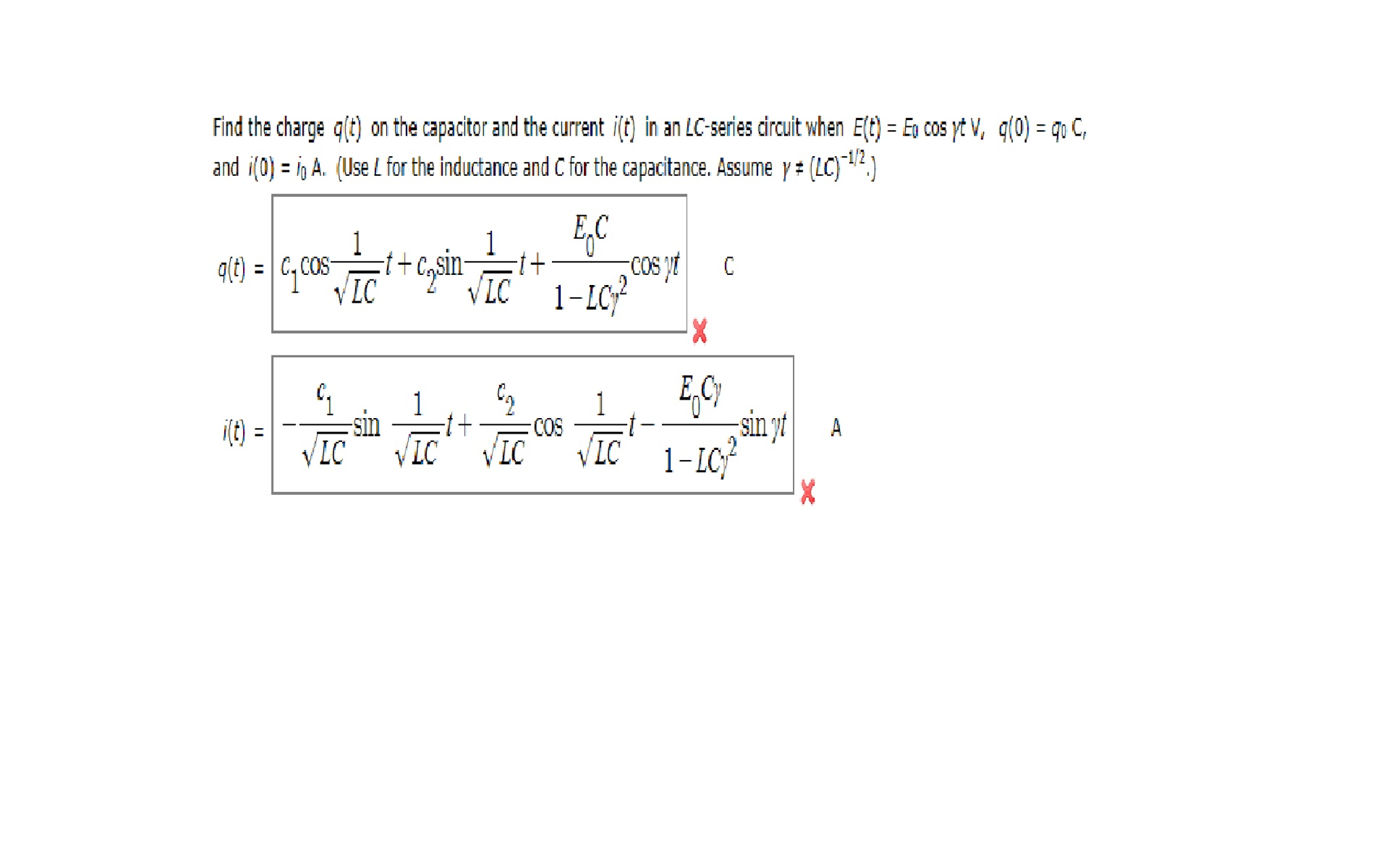 Find The Charge Gt On Capacitor And Curr Uses Of Series Circuit