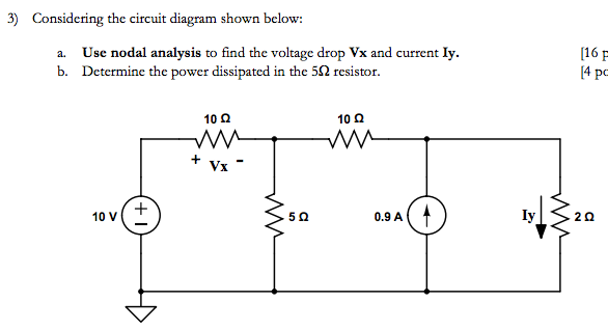 solved considering the circuit diagram shown below use n rh chegg com