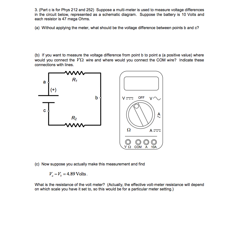Solved: Suppose A Multi-meter Is Used To Measure Voltage D ... on