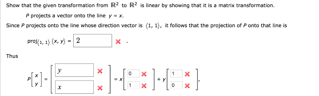 Solved: Show That The Given Transformation From R2 To R2 I