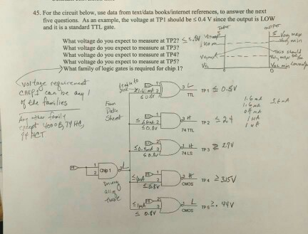 For the circuit below, use data from text/data boo