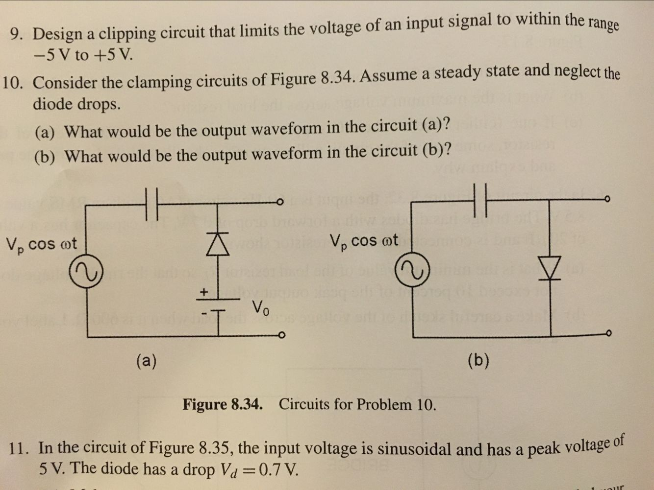9 Design A Clipping Circuit That Limits The Volta