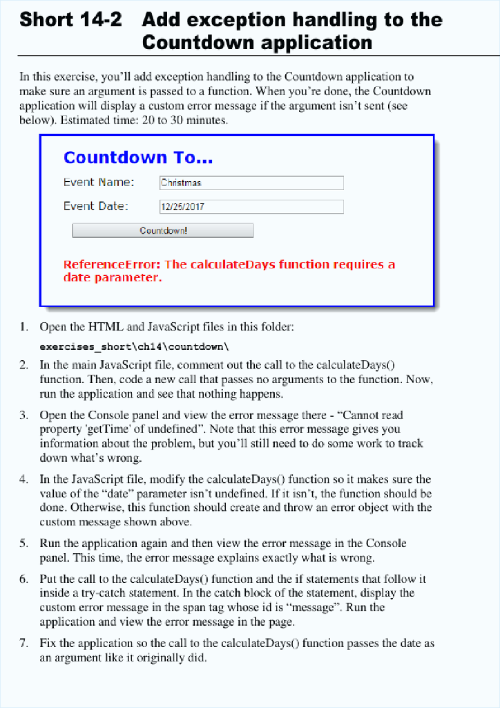 Index html: Countdown To    Countdown To    Event     | Chegg com