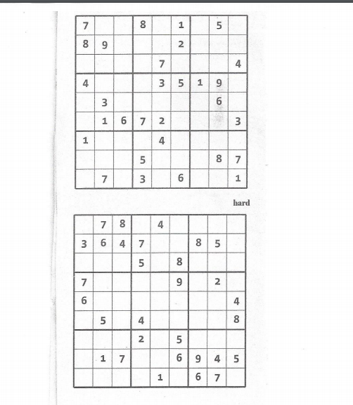 Solved Two Sudoku Puzzles Are Attached The Upper One Is