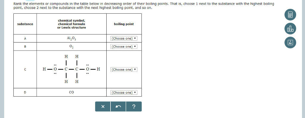 which element has the highest boiling point