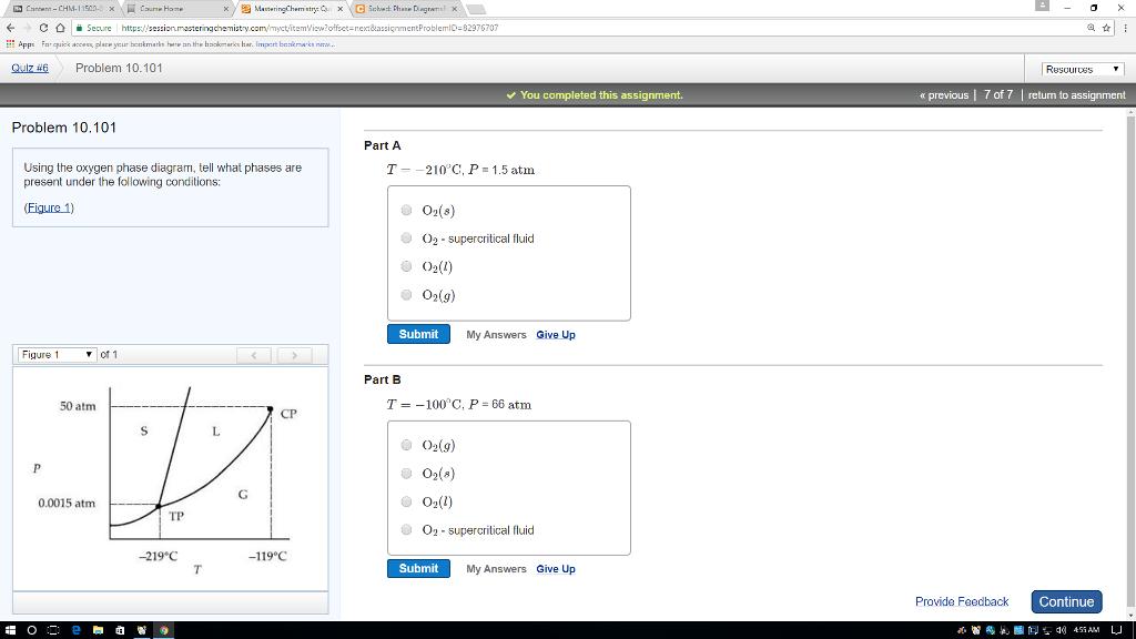 Solved Mastering Chemistry Quiz Problem 1010 Problem 10