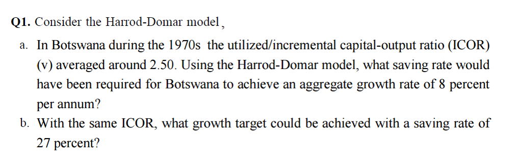 relevance of harrod domar to nigeria economics Mgs207: introduction to development economics  countries with a view to ascertaining its relevance to  2 harrod-domar growth.