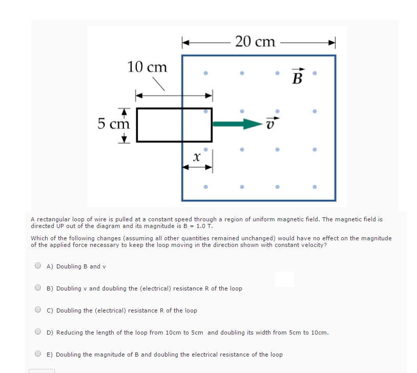 [DIAGRAM_0HG]  Solved: A Rectangular Loop Of Wire Is Pulled At A Constant... | Chegg.com | T Loop Wiring Diagram |  | Chegg