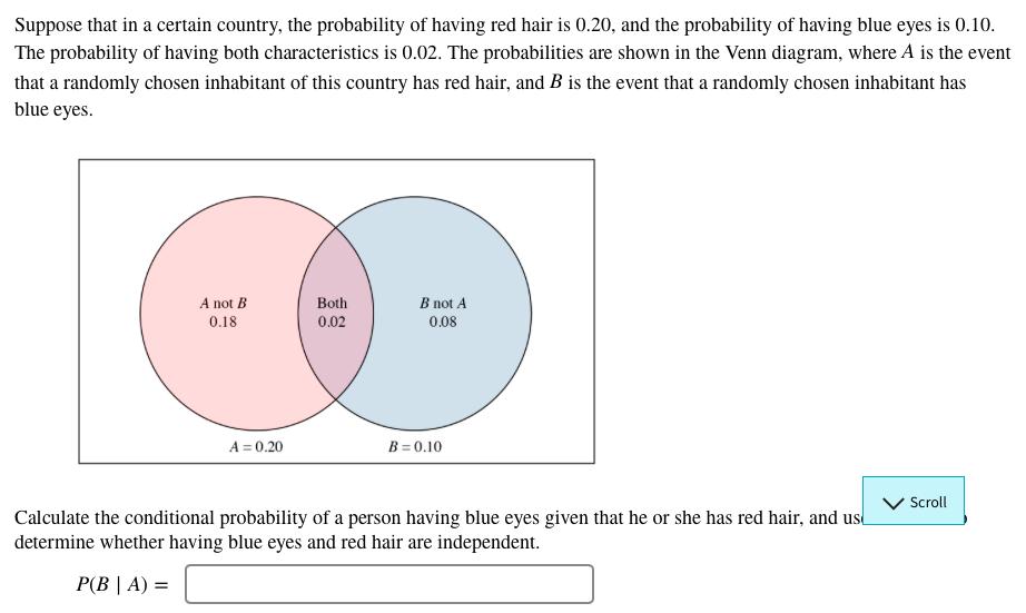 Venn diagram eye residential electrical symbols solved suppose that in a certain country the probability rh chegg com funny venn diagrams venn ccuart Gallery