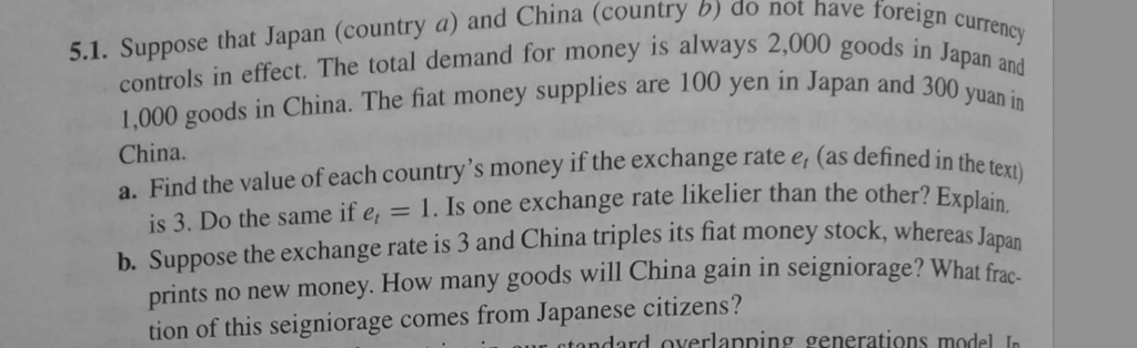 Solved: B) Do Not Ha Cy 5 1  Suppose That Japan (country A