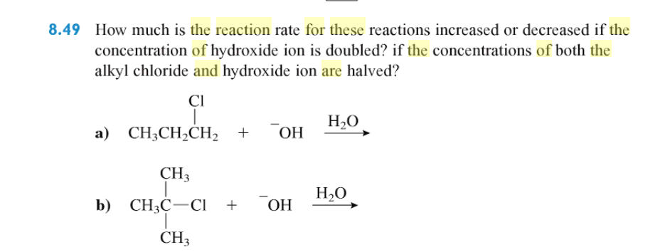 Chemistry archive october 25 2017 chegg 849 how much is the reaction rate for these reactions increased or decreased if the concentration fandeluxe Images