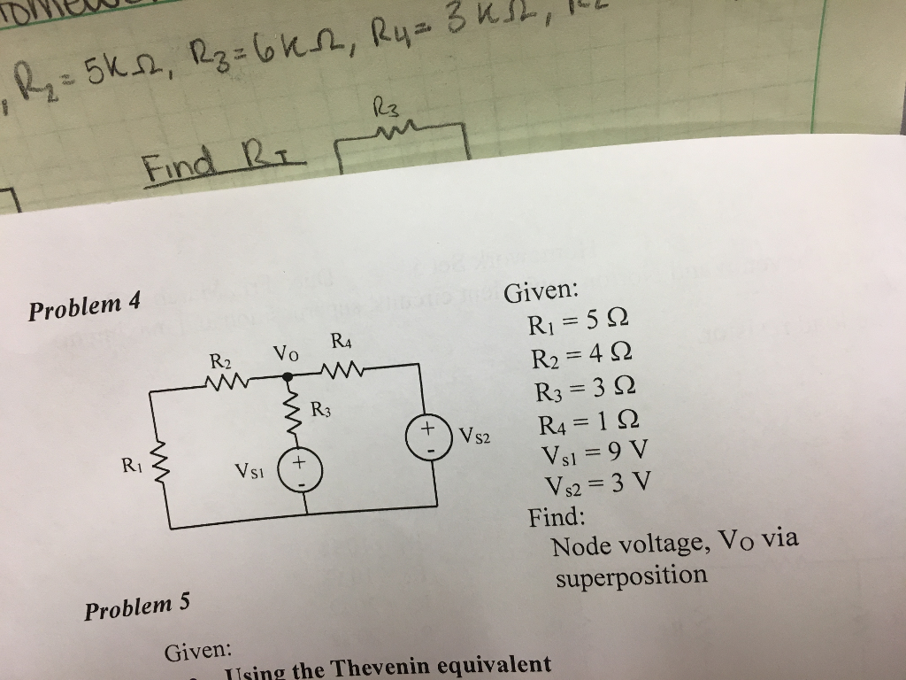 Solved Problems Cover Thevenin And Norton Equivalent Cir Find Resistance Rt Of Given Circuit Cheggcom Fini Problem 4 5 2 Ri R2 Vo Ra Wan 3