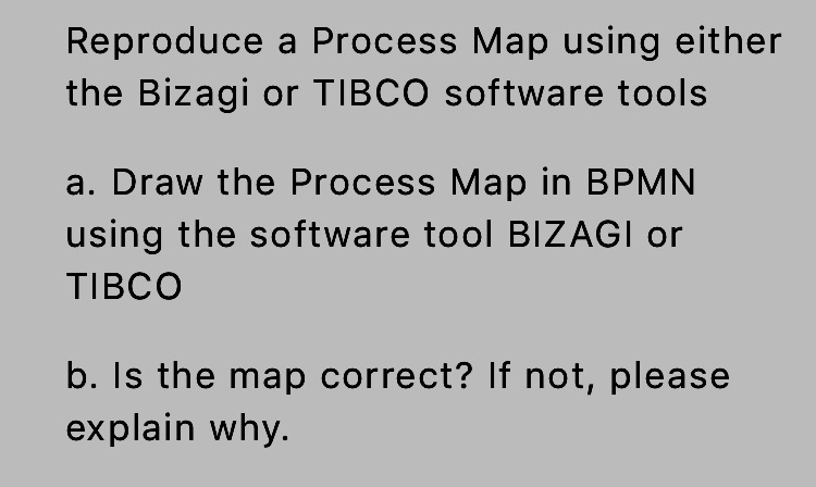 Solved Reproduce A Process Map Using Either The Bizagi Or - How to draw a process map