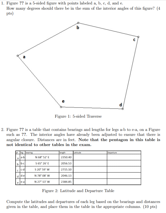 solved 1 figure is a 5 sided figure with points label
