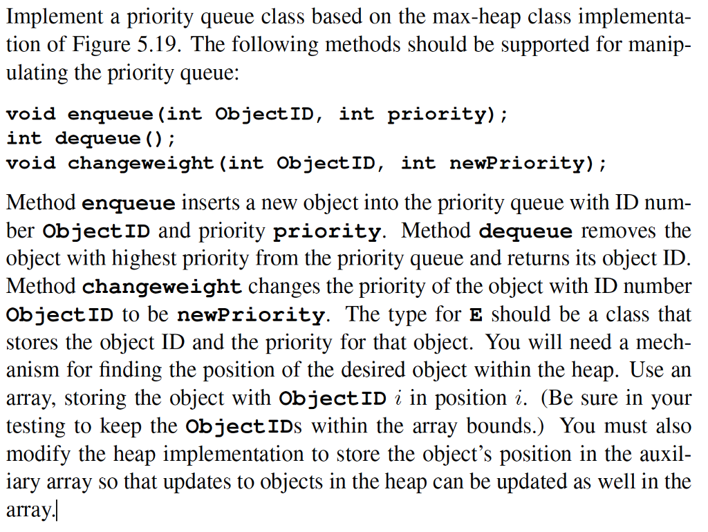 Solved Java Priority Queue The Question Here Is The Co