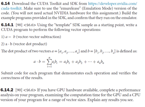 6 14 Download The CUDA Toolkit And SDK From Https
