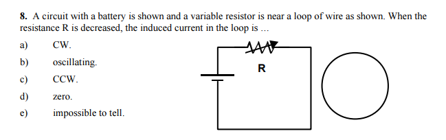Solved: A Circuit With A Battery Is Shown And A Variable R ...