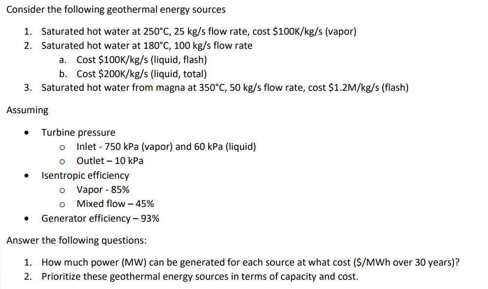 geothermal energy questions and answers