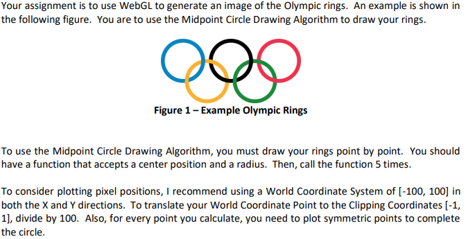 Your Assignment Is To Use WebGL To Generate An Ima