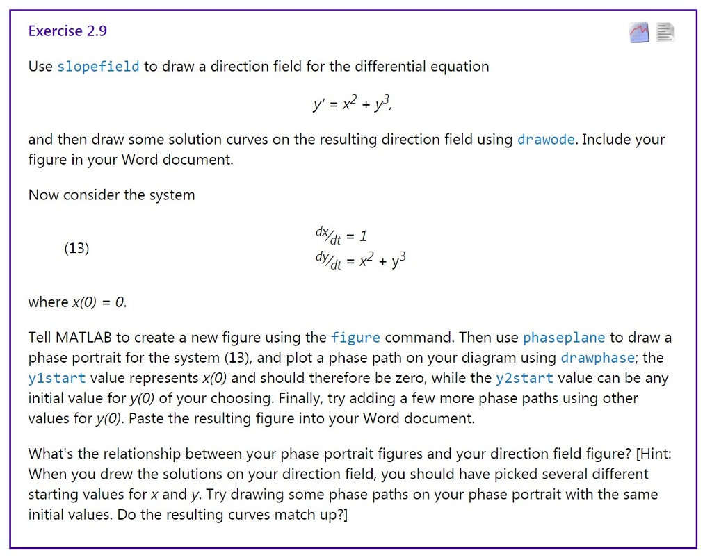 How to draw a direction field for a system of differential equations — pic 1