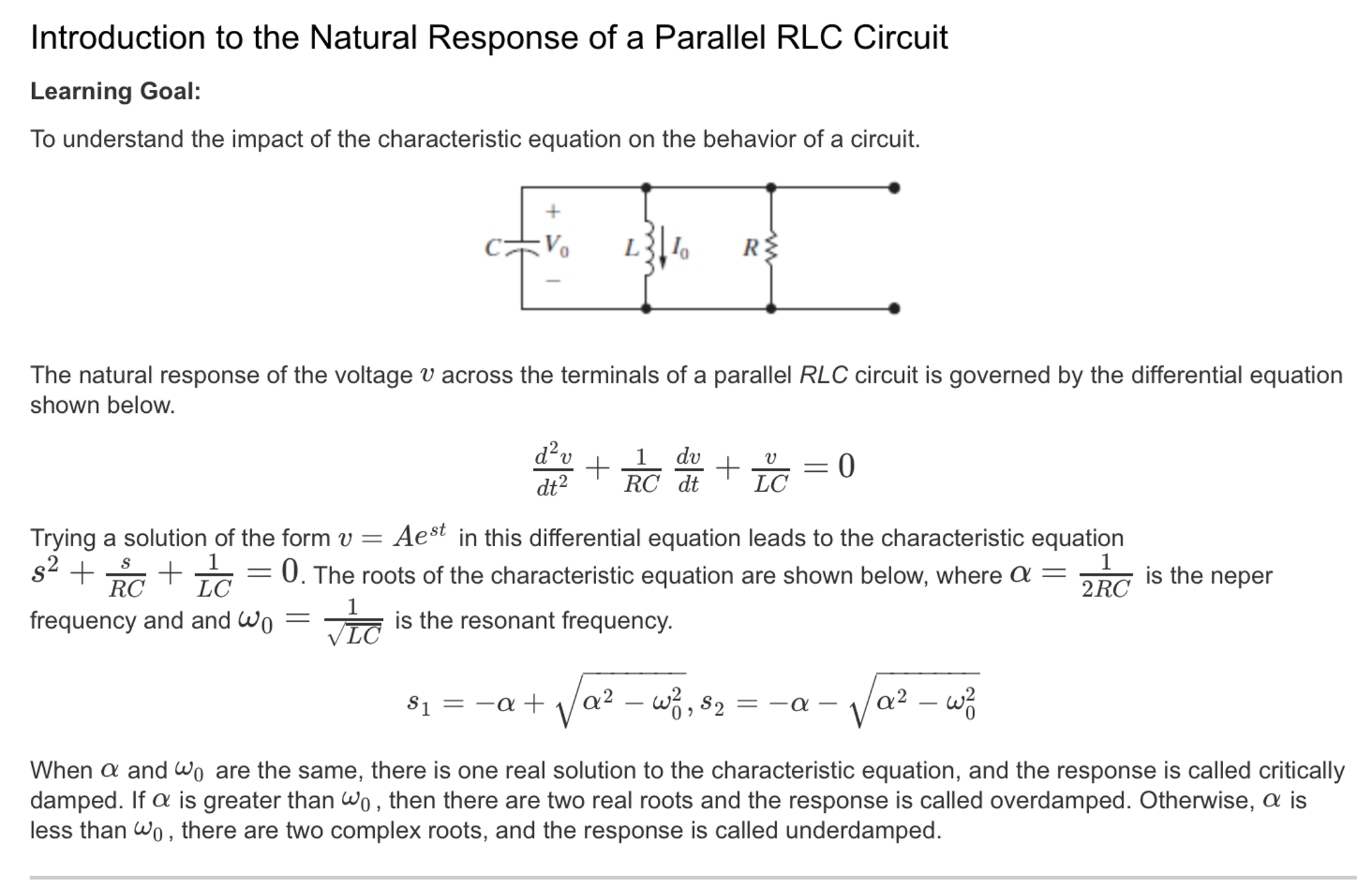 Resonant frequency parallel rlc circuit calculator