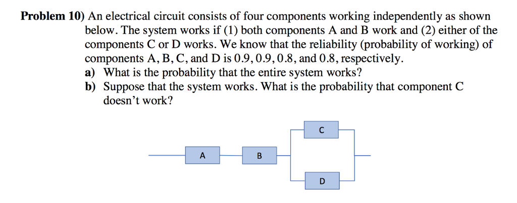 Solved: Problem 10) An Electrical Circuit Consists Of Four ...
