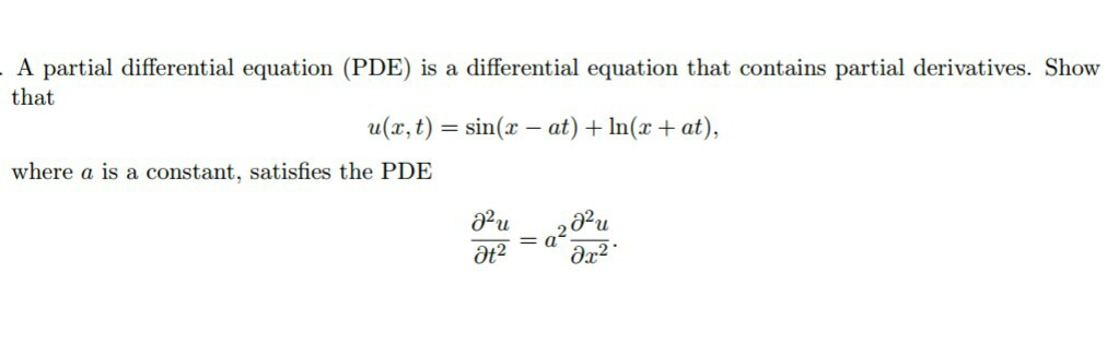 partial differential equation homework solutions