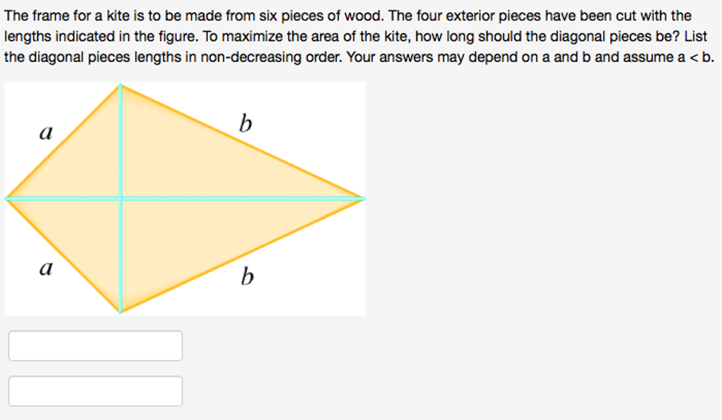 Solved: The Frame For A Kite Is To Be Made From Six Pieces ...