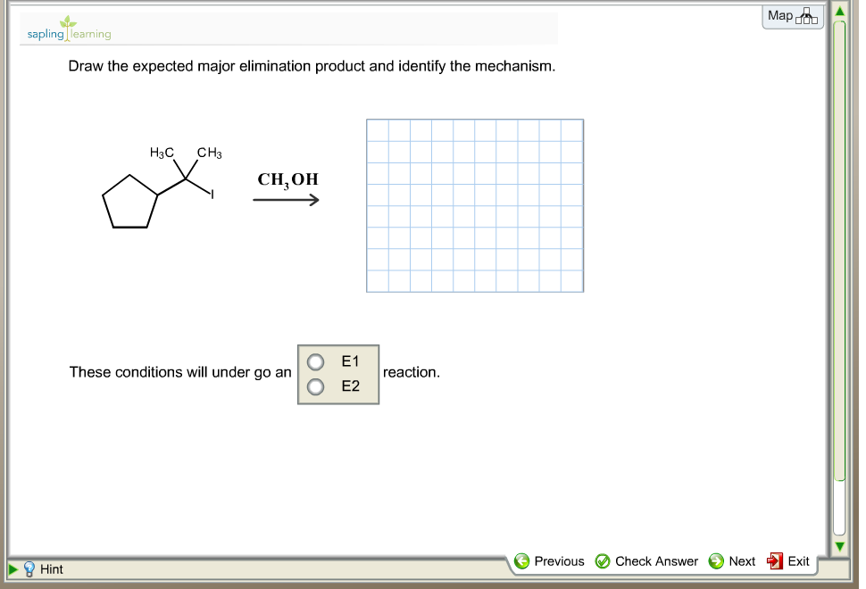 Solved: Draw The Expected Major Elimination Product And Id ...