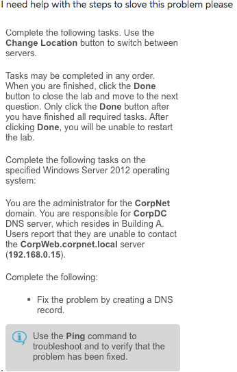 Solved: Complete The Following Tasks. Use The Change Locat ...