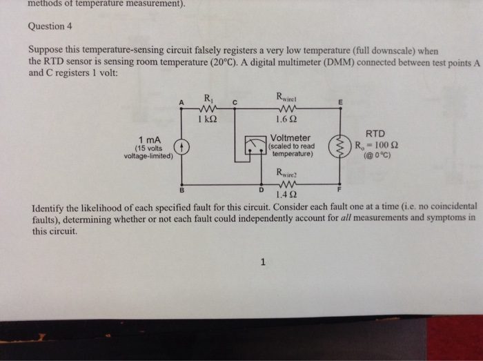 Solved: Methods Of Temperature Measurement)  Question4 Sup