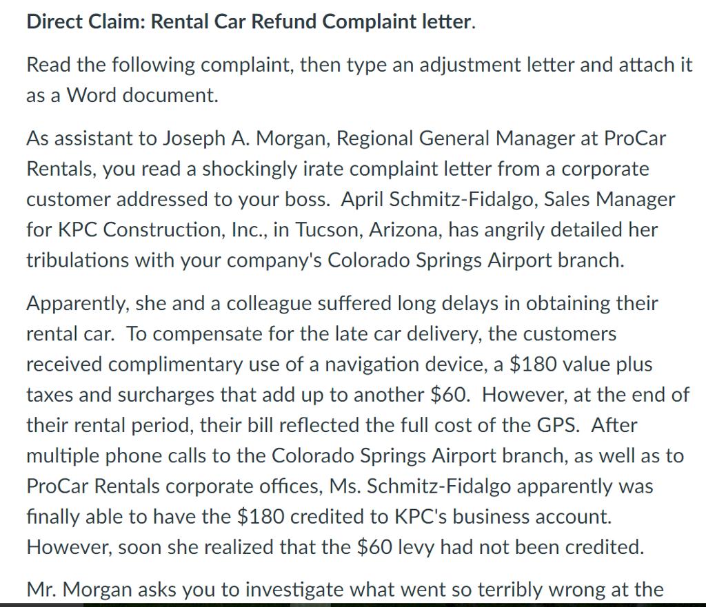 Letter To Corporate Complaint from d2vlcm61l7u1fs.cloudfront.net