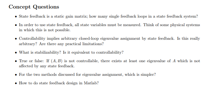 Solved concept questions state feedback is a static gain concept questions state feedback is a static gain matrix how many single feedback loops in ccuart Images