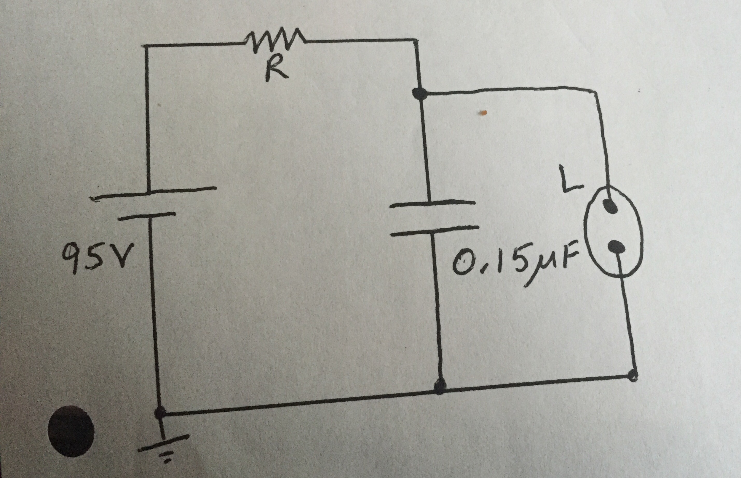 Solved 1 Consider The Figure Above What Is Resistor Wiring Diagram Of Fluorescent Lamp With Capacitor Shows Circuit A Flashing Like Those Attached To Barrels At Highway Construction Sites L Negligible