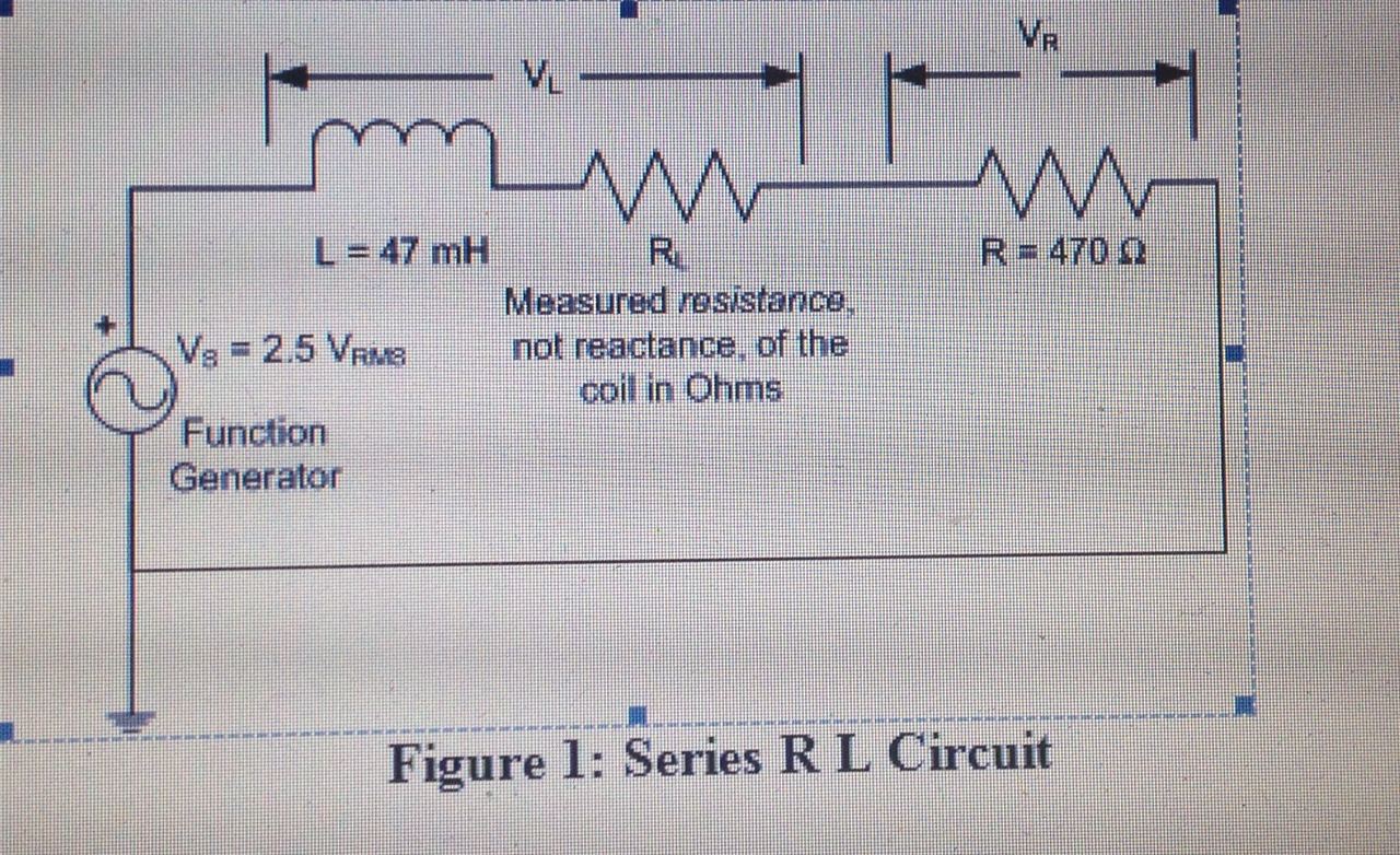 Solved Given The R L Series Circuit In Figure 1 Calcul Find Equivalent Resistance Rt Of Cheggcom Calculate Total Impedance Zt At Frequencies F Khz 2khz And 3