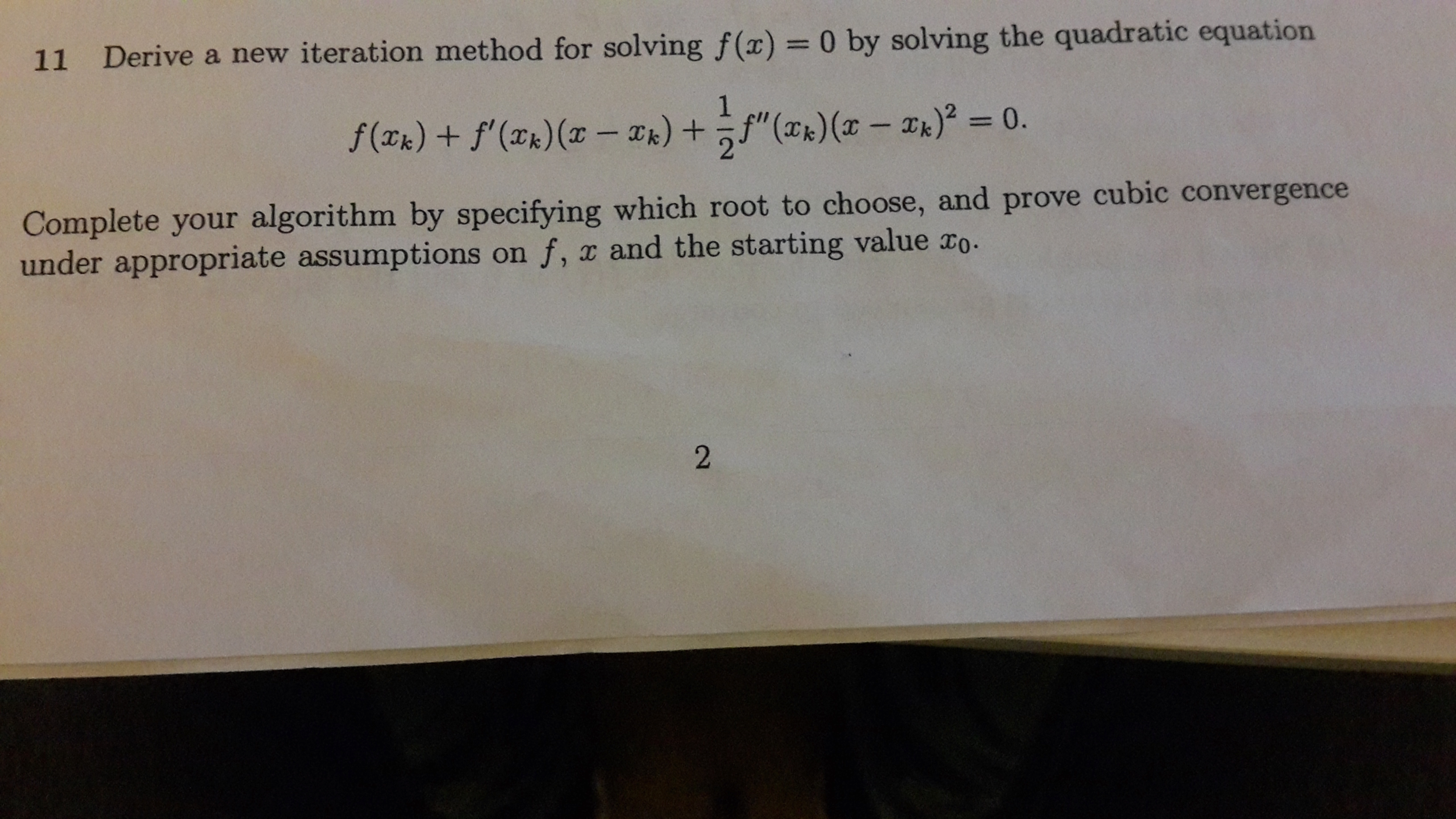 solved derive a new iteration method for solving f x 0