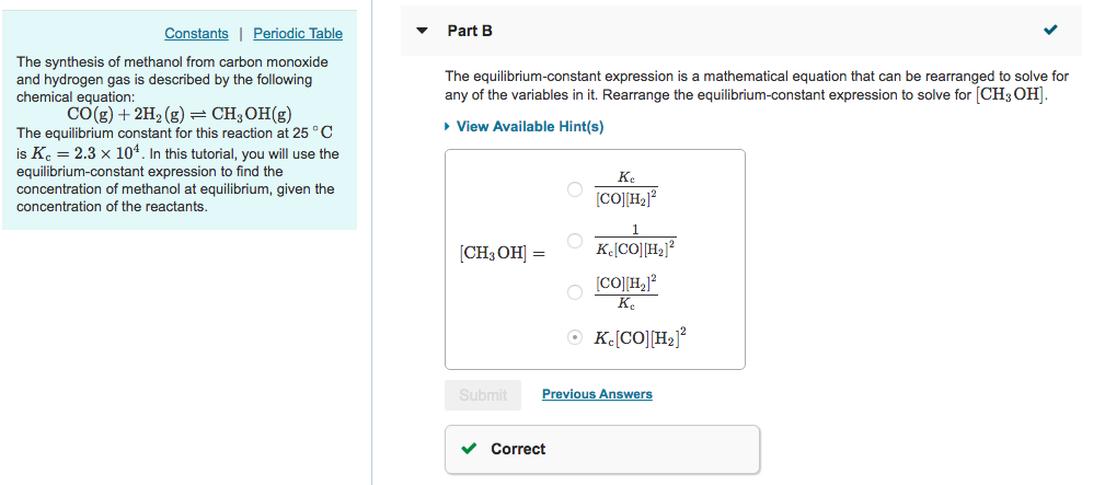 Solved Constants Periodic Table Part B The Synthesis Of M