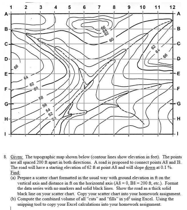 Contour Lines On A Topographic Map Connect.9 10 1112 8 Given The Topographic Map Shown Belo Chegg Com