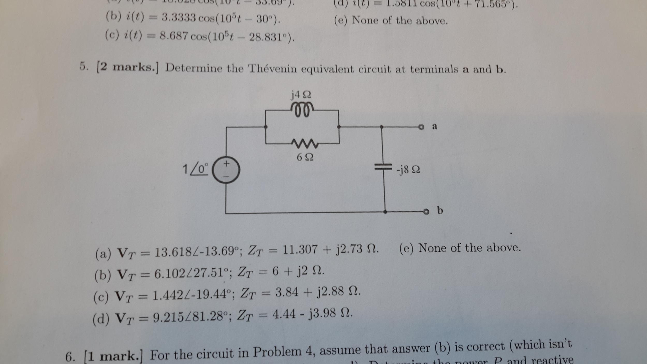 Solved Determine The Thevenin Equivalent Circuit At Termi
