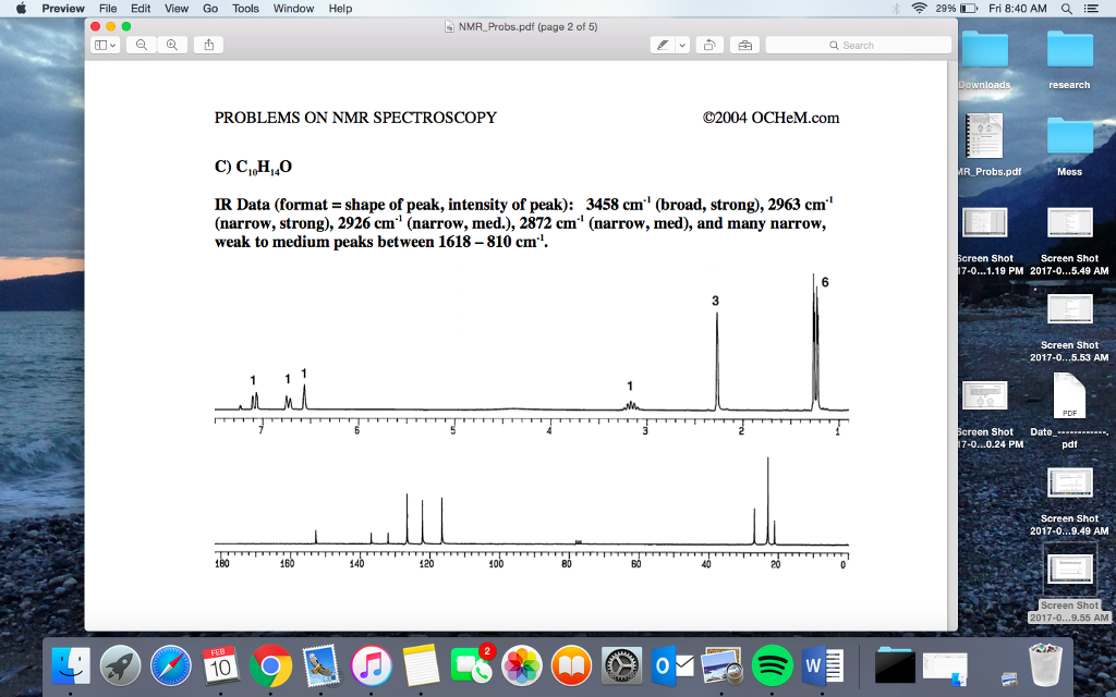 problem aplication of spectroscopy pdf