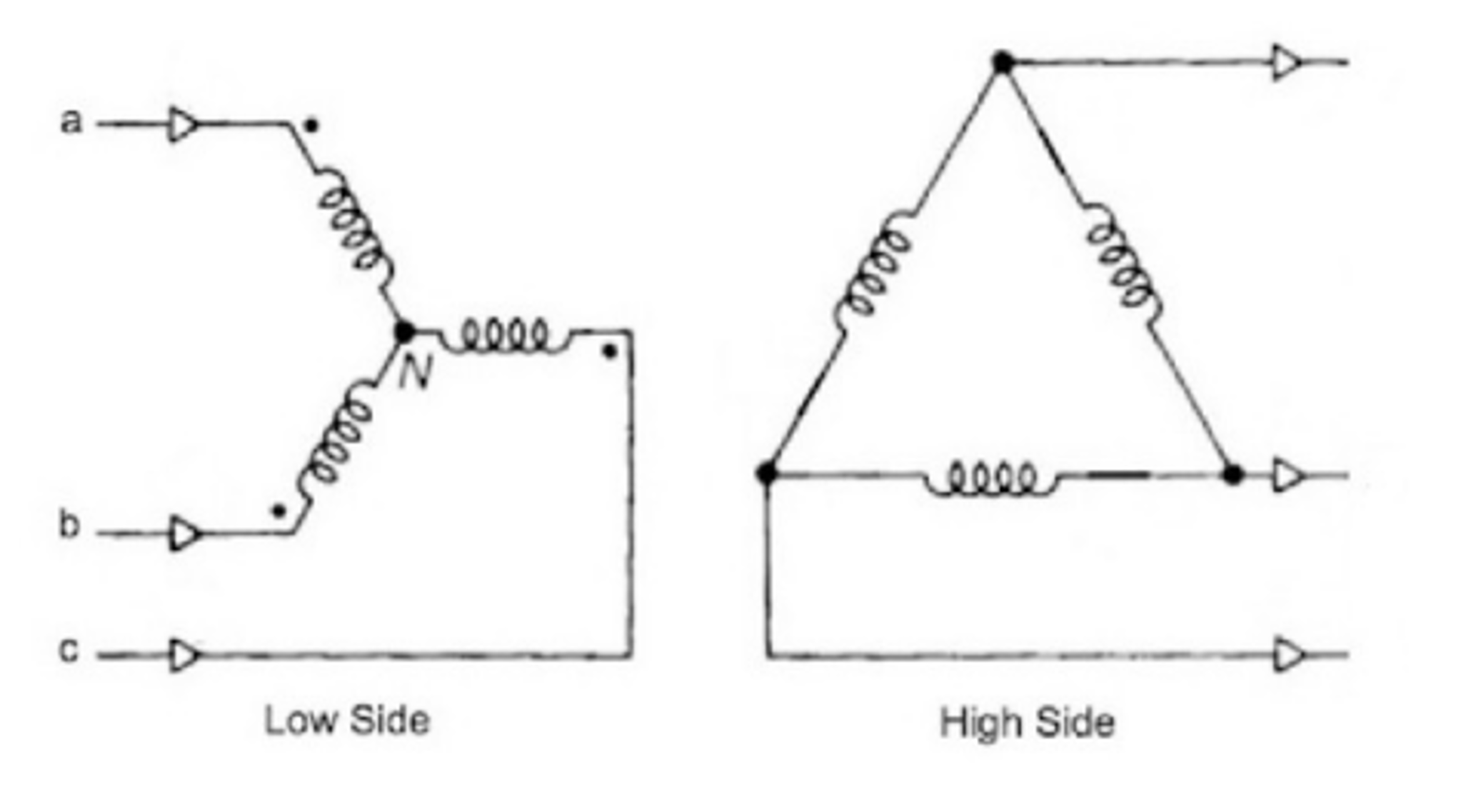3 phase wye delta wiring diagram solved for the wye delta 3 phase step up transformer syst  wye delta 3 phase step up transformer