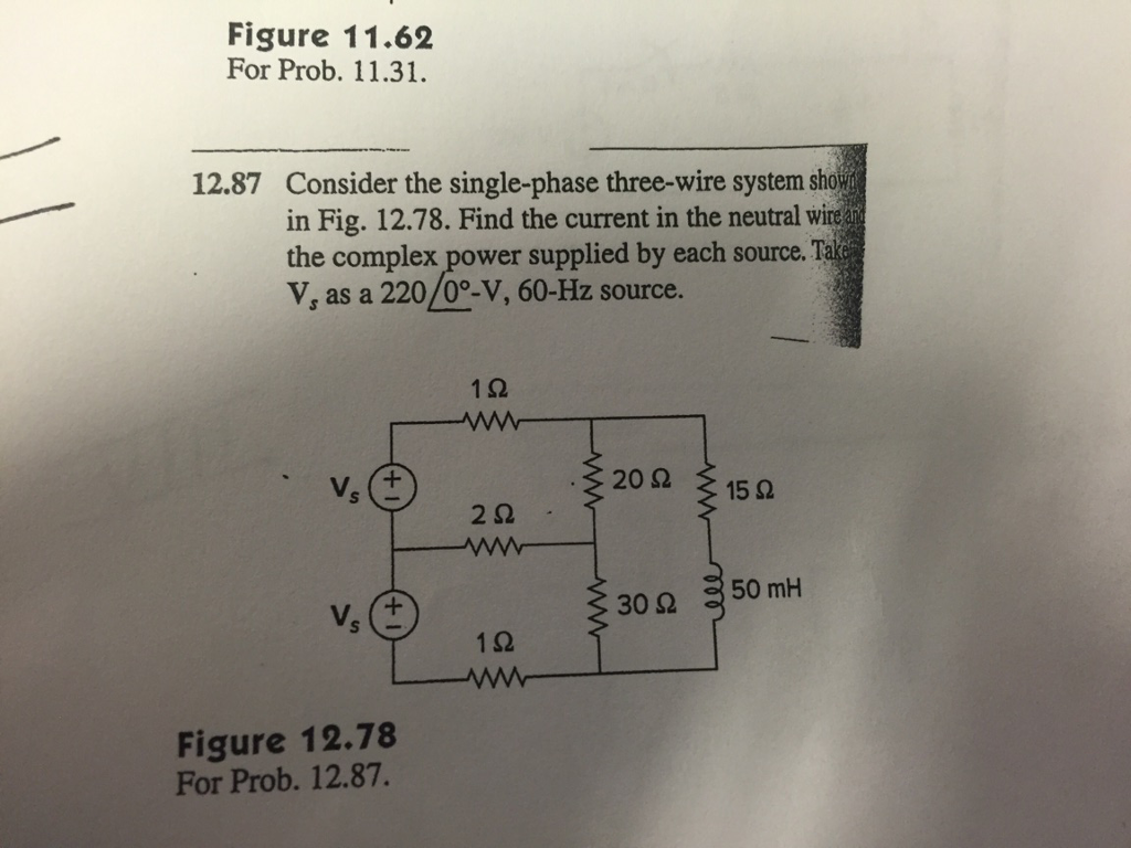 Solved: 12.87 Consider The Signle-phase Three-wire System ...