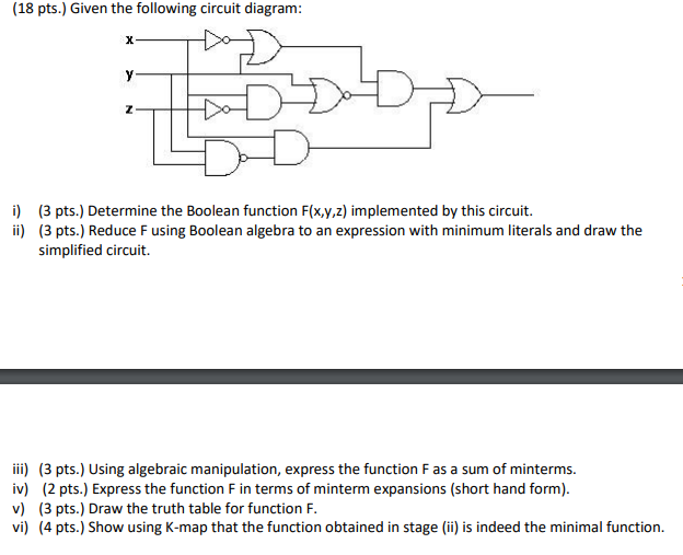 solved 18 pts given the following circuit diagram 3 rh chegg com 3 Overlapping Circles Diagram Architecture Diagram