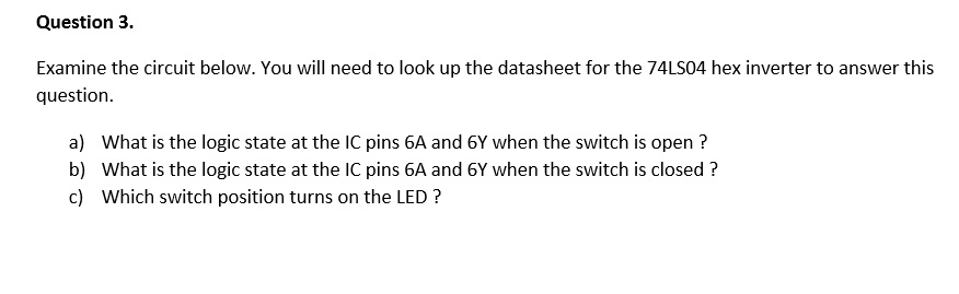 Solved: Examine The Circuit Below  You Will Need To Look U