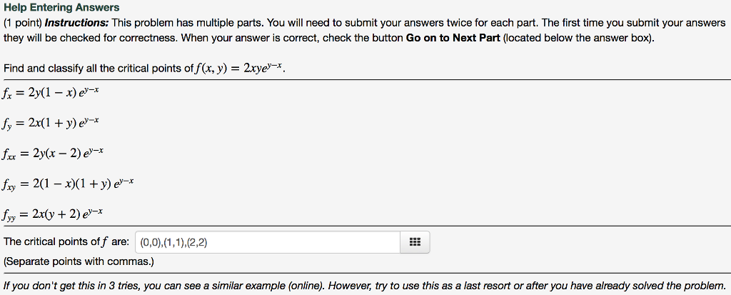 Solved Help Entering Answers 1 Point Instructions This
