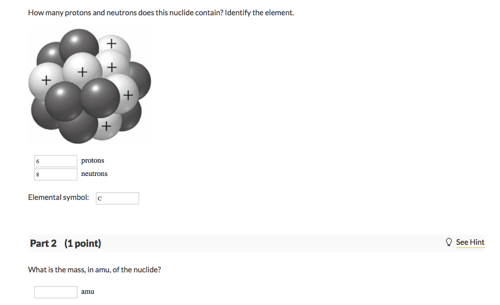 solved how many protons and neutrons does this nuclide co