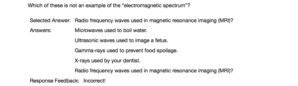 Solved Which Of These Is Not An Example Of The Electroma