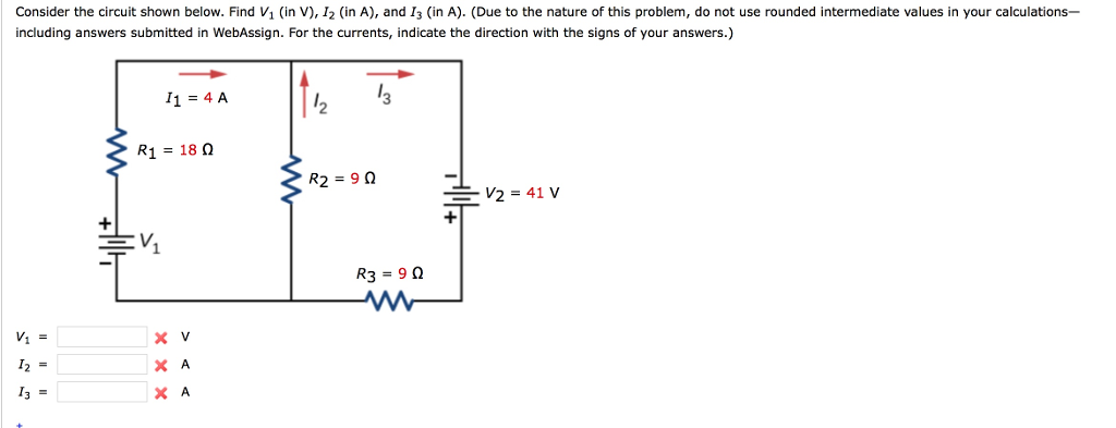 Solved: Consider The Circuit Shown Below. Find V1 (in V ...